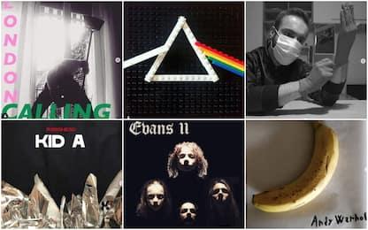 Coronavirus, ricreare cover degli album in casa: la sfida social. FOTO