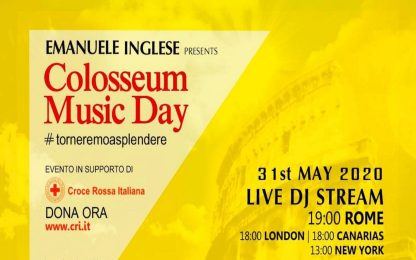 Coronavirus, Music day in streaming dal Colosseo per le discoteche