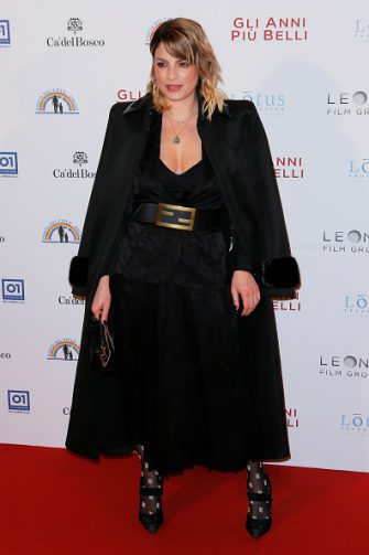 "ROME, ITALY - FEBRUARY 03: Emma Marrone attends ""Gli Anni Più Belli"" premiere at Auditorium della Conciliazione on February 03, 2020 in Rome, Italy. (Photo by Ernesto Ruscio/Getty Images)"