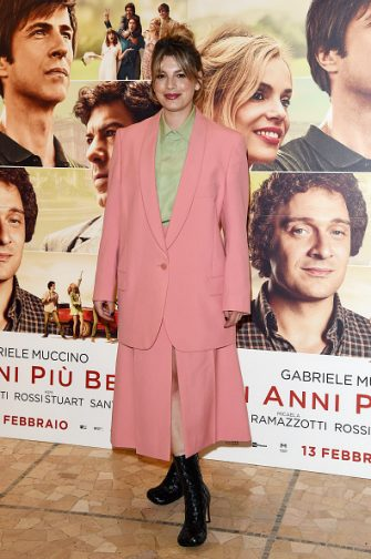 "MILAN, ITALY - FEBRUARY 10:  Emma Marrone attends the photocall of the movie ""Gli Anni Più Belli"" on February 10, 2020 in Milan, Italy. (Photo by Stefania D'Alessandro/Getty Images)"