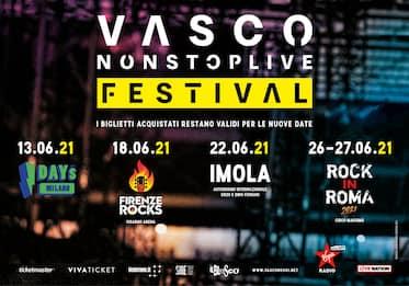 Vasco Rossi in concerto: le date del Vasco Non Stop Live Festival 2021