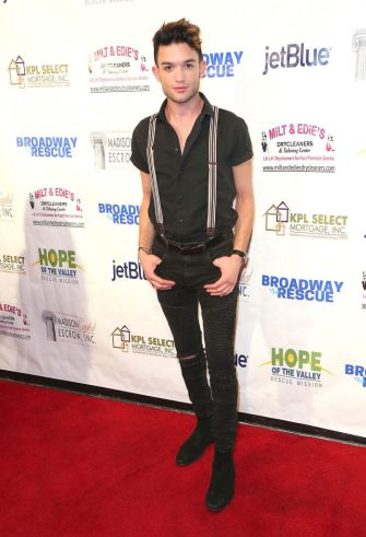 LOS ANGELES, CA - OCTOBER 14:  Chris Trousdale attends Broadway to The Rescue a benefit for the homeless at The Montalban Theater on October 14, 2017 in Los Angeles, California.  (Photo by Maury Phillips/WireImage)