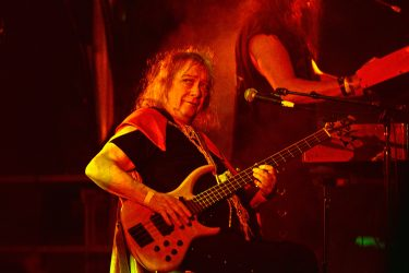 LOS ANGELES, CA - SEPTEMBER 02:  Steve Priest of The Sweet performs at Backyard Bash 2018 at the Rainbow Bar & Grill on September 2, 2018 in Los Angeles, California.  (Photo by Michael Tullberg/Getty Images)
