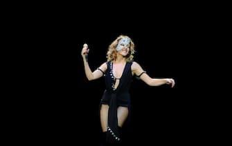 MADRID, SPAIN - JULY 02:  Kylie Minogue performs on stage at Plaza de Toros de Las Ventas on July 2, 2009 in Madrid, Spain.  (Photo by Carlos R. Alvarez/WireImage)