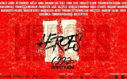 Heroes, il 6 settembre concerto all'Arena di Verona: tutti gli artisti