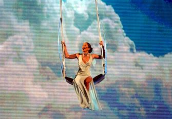 Jennifer Lopez performs (Photo by M. Caulfield/WireImage)