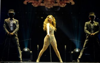 MADRID, SPAIN - OCTOBER 07:  Jennifer Lopez performs at The Palacio de Deportes on October 7, 2012 in Madrid, Spain.  (Photo by Fotonoticias/WireImage)
