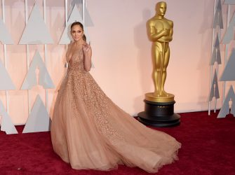 HOLLYWOOD, CA - FEBRUARY 22:  Actress Jennifer Lopez attends the 87th Annual Academy Awards at Hollywood & Highland Center on February 22, 2015 in Hollywood, California.  (Photo by Jason Merritt/Getty Images)