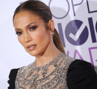 LOS ANGELES, CA - JANUARY 18:  Actress/singer Jennifer Lopez arrives at the 2017 People's Choice Awards at Microsoft Theater on January 18, 2017 in Los Angeles, California.  (Photo by Gregg DeGuire/WireImage)