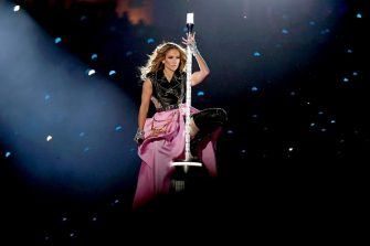 MIAMI, FLORIDA - FEBRUARY 02: Jennifer Lopez performs onstage during the Pepsi Super Bowl LIV Halftime Show at Hard Rock Stadium on February 02, 2020 in Miami, Florida. (Photo by Kevin Winter/Getty Images)