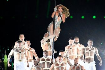 MIAMI, FLORIDA - FEBRUARY 02: Jennifer Lopez performs onstage during the Pepsi Super Bowl LIV Halftime Show at Hard Rock Stadium on February 02, 2020 in Miami, Florida. (Photo by Focus on Sport/Getty Images)