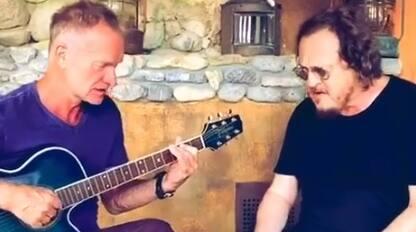 """Zucchero e Sting insieme in Toscana: su Facebook ecco """"Fields of Gold"""""""