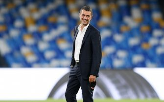 NAPLES, ITALY - JULY 12: Paolo Maldini AC Milan Technical Director smiles before the Serie A match between SSC Napoli and  AC Milan at Stadio San Paolo on July 12, 2020 in Naples, Italy. (Photo by Francesco Pecoraro/Getty Images)