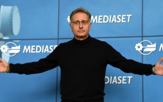 MILAN, ITALY - MARCH 23:  Paolo Bonolis attends the Paolo Bonolis press meeting on March 23, 2017 in Milan, Italy.  (Photo by Pier Marco Tacca/Getty Images)
