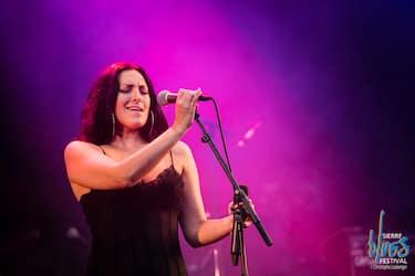 Sara Zaccarelli (vocals).Sara Zaccarelli Nu Band @ Sierre Blues Festival, Sierre, Switzerland, 05.07.2018.(c) Christophe Losberger