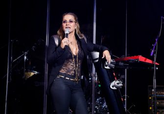 LONDON, UNITED KINGDOM - JANUARY 23: Anastacia performs at 02 Shepherd's Bush Empire on January 23, 2015 in London, England. (Photo by Chiaki Nozu/WireImage)