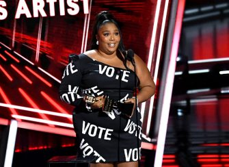 HOLLYWOOD, CALIFORNIA - OCTOBER 14: In this image released on October 14, Lizzo accepts the Top Song Sales Artist Award onstage at the 2020 Billboard Music Awards, broadcast on October 14, 2020 at the Dolby Theatre in Los Angeles, CA.  (Photo by Kevin Winter/BBMA2020/Getty Images for dcp)
