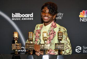 HOLLYWOOD, CALIFORNIA - OCTOBER 14: In this image released on October 14, Lil Nas X poses backstage at the 2020 Billboard Music Awards, broadcast on October 14, 2020 at the Dolby Theatre in Los Angeles, CA.  (Photo by Amy Sussman/BBMA2020/Getty Images for dcp )