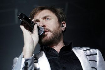 BERLIN, GERMANY - JANUARY 31: Singer Simon Le Bon of the band Duran Duran performs live during a concert at the Columbiahalle on January 31, 2012 in Berlin, Germany. (Photo by Frank Hoensch/Getty Images)