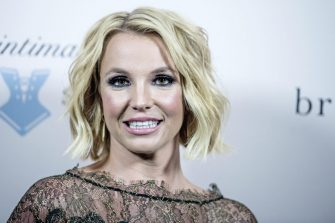 US singer Britney Spears smiles during the launch of her new lingerie brand 'The Intimate Britney Spears' with an event at the Forum in Copenhagen, Denmark, 25 September 2014.ANSA/CHRISTIAN LILIENDAHL  DENMARK OUT
