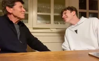 Gianni Morandi imitato dal nipote Giovanni Antonacci. VIDEO