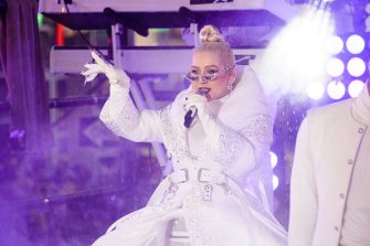 NEW YORK, NEW YORK - DECEMBER 31: Christina Aguilera performs during New Year's Eve 2019 in Times Square on December 31, 2018 in New York City. (Photo by Noam Galai/WireImage,)