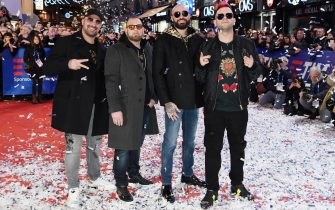 SANREMO, ITALY - FEBRUARY 04: BoomDaBash  walks the red carpet of the 69. Sanremo Music Festival Preview at Teatro Ariston on February 04, 2019 in Sanremo, Italy. (Photo by Daniele Venturelli/Daniele Venturelli/Getty Images)