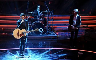 SAN REMO, ITALY - FEBRUARY 15:  Music Group Marlene Kuntz performs on stage at the second day of the 62th Sanremo Song Festival at the Ariston Theatre on February 15, 2012 in San Remo, Italy.  (Photo by Daniele Venturelli/Getty Images)