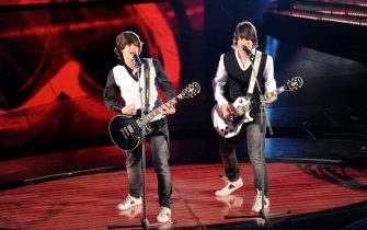Btwins attends the 61th Sanremo Song Festival at the Ariston Theatre on February 17, 2011 in San Remo, Italy. *** Local Caption ***