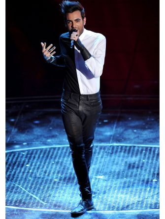 SAN REMO, ITALY - FEBRUARY 16:  Marco Mengoni attends the 60th Sanremo Song Festival at the Ariston Theatre On February 16, 2010 in San Remo, Italy.  (Photo by Venturelli/WireImage)  *** Local Caption ***
