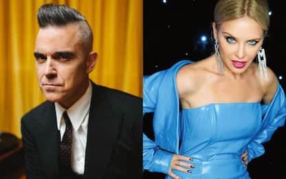 Robbie Williams ha registrato in segreto una canzone con Kylie Minogue