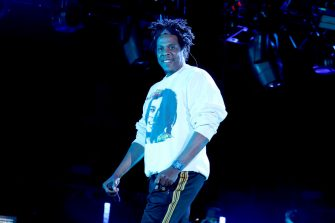 VIRGINIA BEACH, VIRGINIA - APRIL 27: Jay-Z performs onstage at SOMETHING IN THE WATER - Day 2 on April 27, 2019 in Virginia Beach City. (Photo by Brian Ach/Getty Images for Something in the Water)