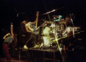 NEW YORK, NY - April 1982:  MANDATORY CREDIT Bill Tompkins/Getty Images  Iron maiden performs April 1982 in New York City. (Photo by Bill Tompkins/Getty Images)