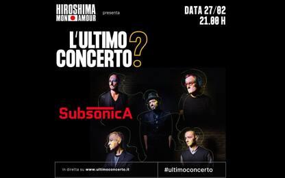 #ultimoconcerto, Subsonica & co. a favore della musica in crisi