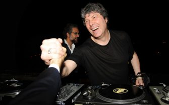 ROME, ITALY - MAY 20: Beppe Fiorello and DJ Claudio Coccoluto attend BVLGARI 125th Anniversary Dinner Celebration - INSIDE at Castel Sant'Angelo on May 20, 2009 in Rome, Italy. (Photo by BILLY FARRELL/Patrick McMullan via Getty Images)