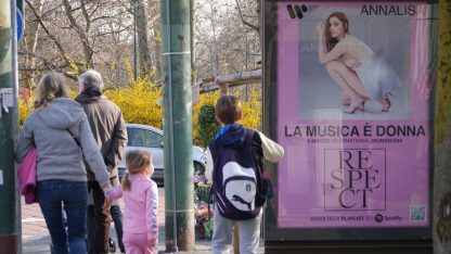 La Musica è Donna - Respect, Warner Music festeggia con 800 affissioni