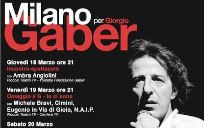 Torna Milano per Gaber: la manifestazione incomincia stasera