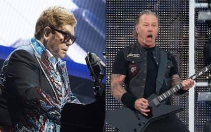 """Elton John sorprende: """"Ho registrato qualcosa con i Metallica"""""""