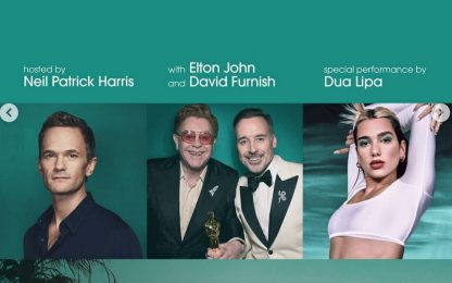 Oscar 2021, Dua Lipa ed Elton John al pre-show in streaming