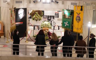 Funerali di Milva al Piccolo Teatro di Milano (MILANO - 2021-04-27, DUILIO PIAGGESI) p.s. la foto e' utilizzabile nel rispetto del contesto in cui e' stata scattata, e senza intento diffamatorio del decoro delle persone rappresentate