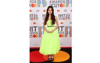 LONDON, ENGLAND - MAY 11: Olivia Rodrigo arrives at The BRIT Awards 2021 at The O2 Arena on May 11, 2021 in London, England. (Photo by JMEnternational/JMEnternational for BRIT Awards/Getty Images)