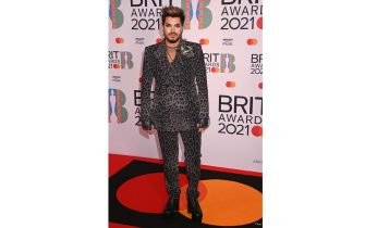 LONDON, ENGLAND - MAY 11: Adam Lambert attends The BRIT Awards 2021 at The O2 Arena on May 11, 2021 in London, England. (Photo by Dave J Hogan/Getty Images)