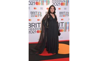 LONDON, ENGLAND - MAY 11:   Jessie Ware arrives at The BRIT Awards 2021 at The O2 Arena on May 11, 2021 in London, England.  (Photo by David M. Benett/Dave Benett/Getty Images)