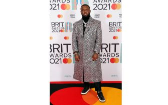 LONDON, ENGLAND - MAY 11: Headie One attends The BRIT Awards 2021 at The O2 Arena on May 11, 2021 in London, England. (Photo by JMEnternational/JMEnternational for BRIT Awards/Getty Images)