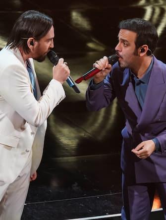 Colapesce e Dimartino at the fourth evening of the 71 Sanremo Music Festival.  Sanremo (Italy), March 5th, 2021 (Photo by Marco Piraccini/Archivio Marco Piraccini/Mondadori Portfolio via Getty Images)