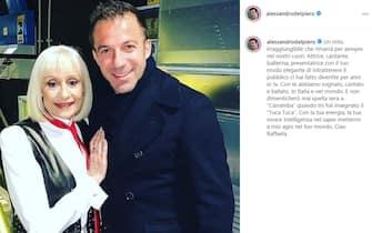 Alessandro Del Piero cordoglio social per Raffaella Carrà