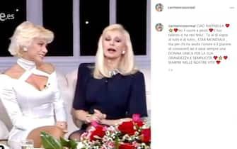 Carmen Russo cordoglio social per Raffaella Carrà