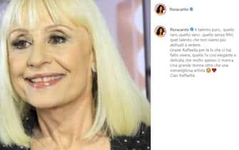 Flora Canto cordoglio social per Raffaella Carrà