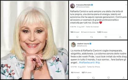 Addio a Raffaella Carrà, da Vasco a Cuccarini: il ricordo sui social