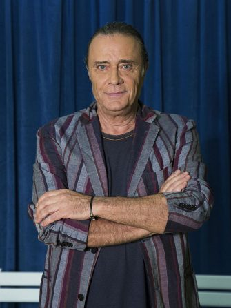 Italian singer Gianni Nazzaro (Giovanni Nazzaro) posing with folded arms during a photo shoot realized in the television studio of the talent show 'Tale e quale show', in which he takes part as competitor. Rome (Italy), 4th September 2014   (Photo by Azzurra Primavera\Mondadori via Getty Images)